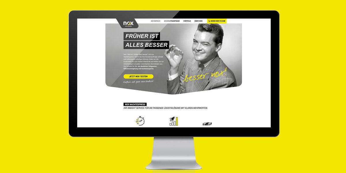 nox Nachtexpress besser nox Werbekampagne Neukundenkampagne Corporate Design Print Digital